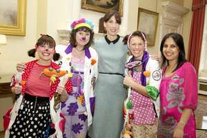Samantha Cameron with Sarika & our Giggle Doctors