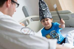 Dr Teapot meets a young patient