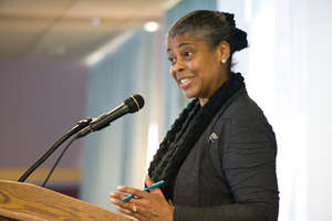 PeaceJam Keynote speaker, Sharon Davis