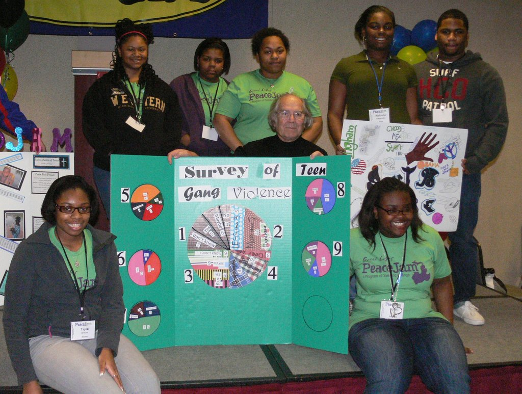 Southside (Lansing) club presenting their project