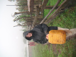 laura going to carry water for the work