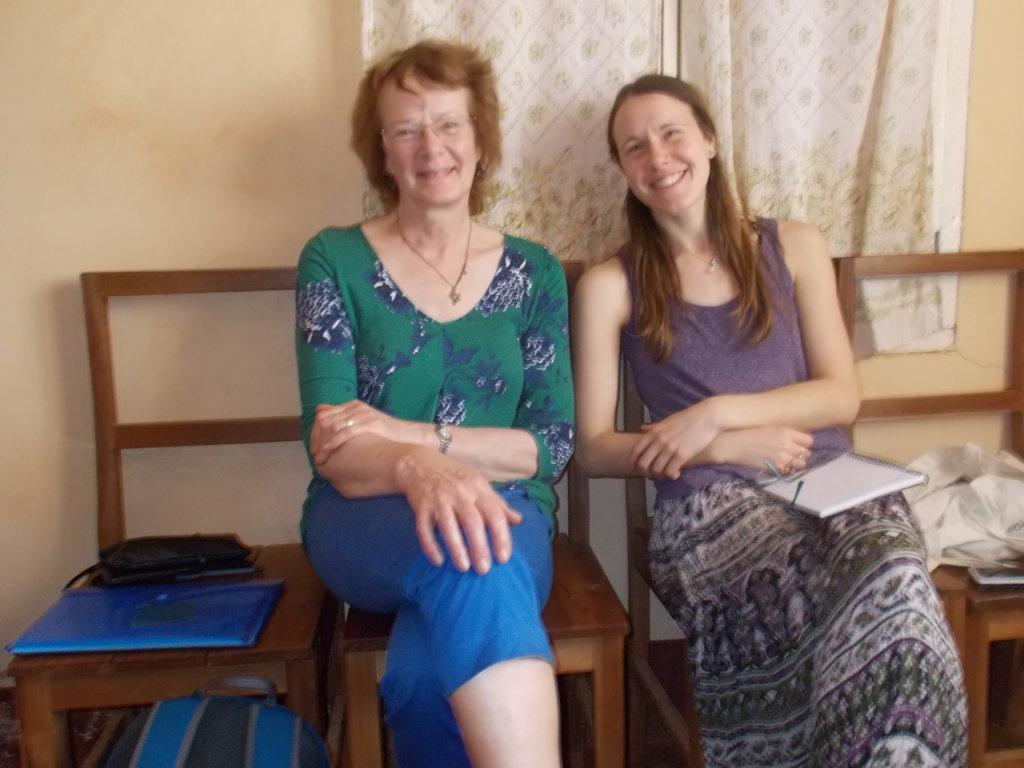 Nathalie and Lizie visited Mbosha.