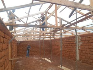 Inner section of the main ward as work goes on.