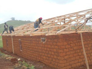 completed roofs waiting zinc.