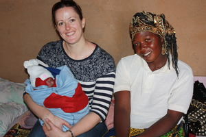 A baby delived and jill a volunteer arrived mbosha
