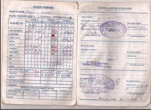 Brian's Report Card