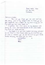 Edna's thank you letter