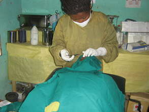 Eye Care Worker conducting sight saving surgery