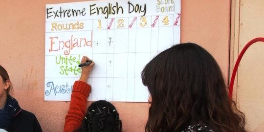 The eXtreme English scoreboard