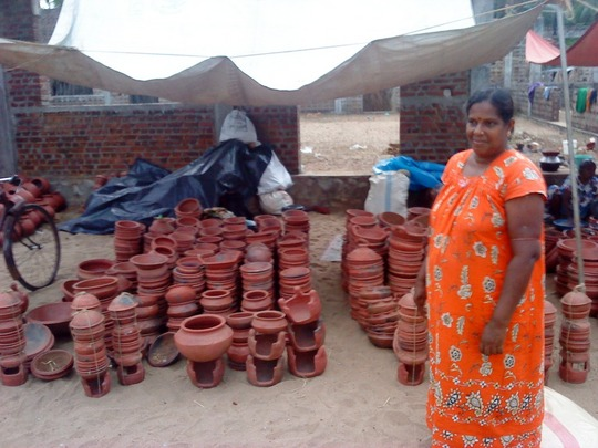 Mrs. Shanthakumari and her pottery