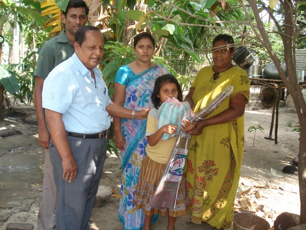 Mrs. Shanthakumari and her family