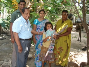 Mrs. Shanthakumari and her family