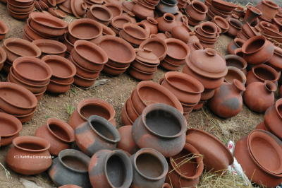 Pottery made by local Sri Lankans