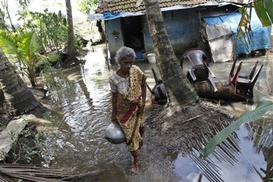 Devastation of the flood in Sri Lanka
