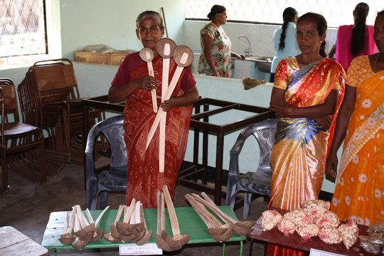 A CERI Beneficiary Sells Self-Made Wooden Utensils