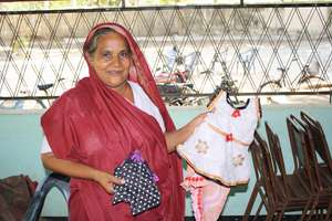A recipient of a CERI Loan Sells Hand-Made Clothes