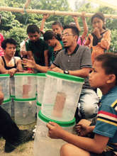 ECCA volunteer briefing on use of water filter