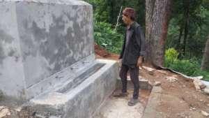 Water tank under construction in Kali Devi School