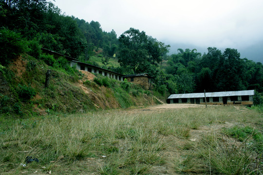 A view of School Building and compound