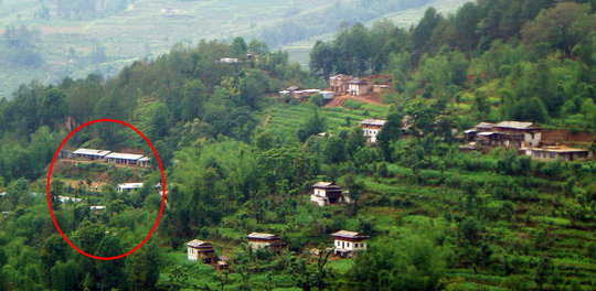 Kalidhunga School from a distant