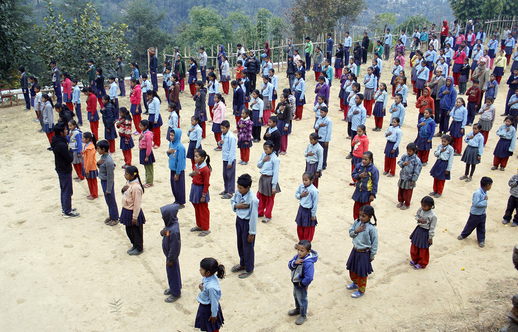 Morning Assembly in Kalidhunga School