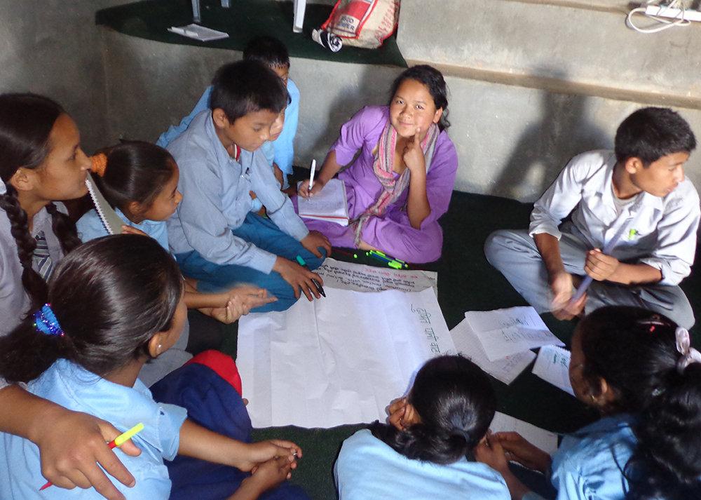 Ms. Manamaya Facilitating Nature Club Planning