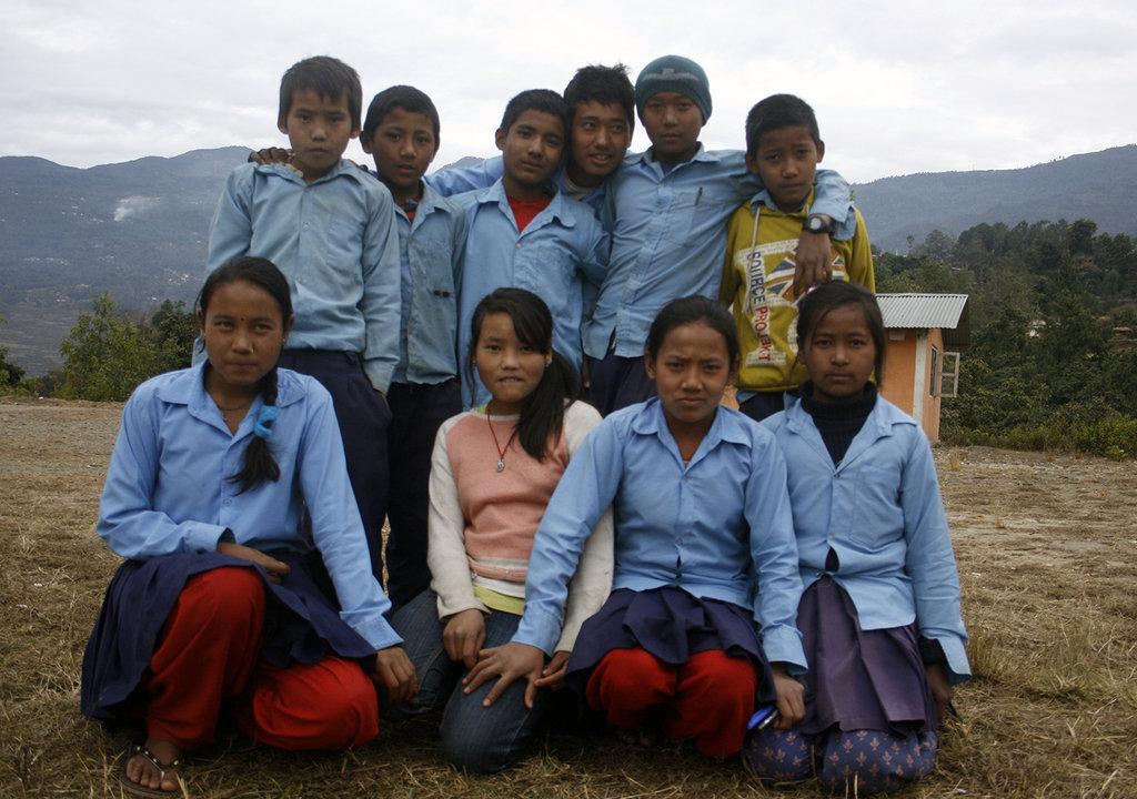 Nature Club Ex Com Members of Majhgau School