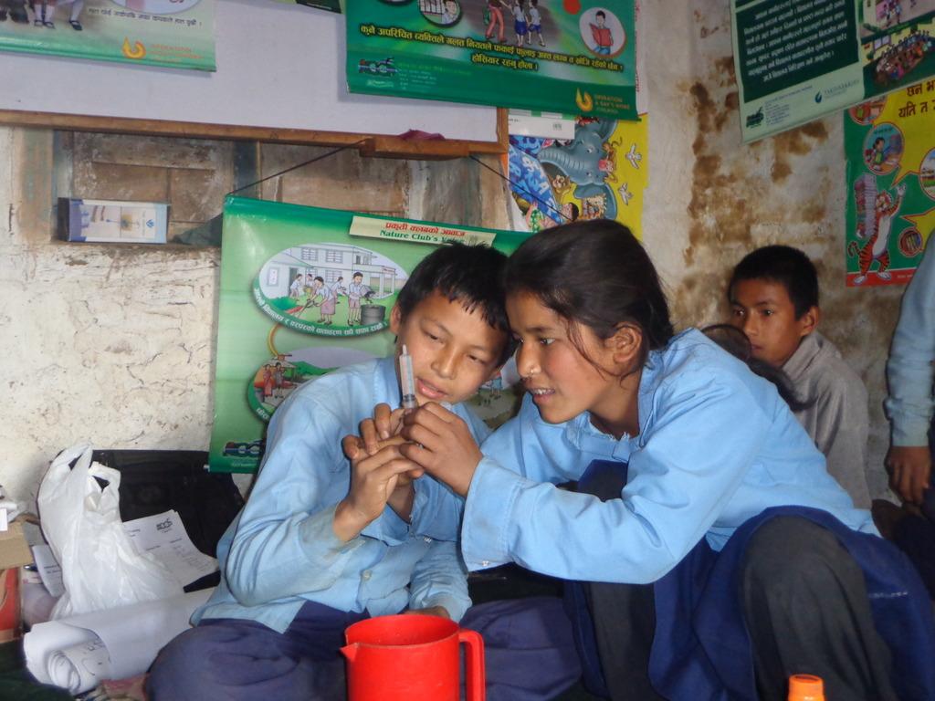 Students preparing WATASOL in their school