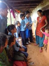 students conducting door-to-door campaign
