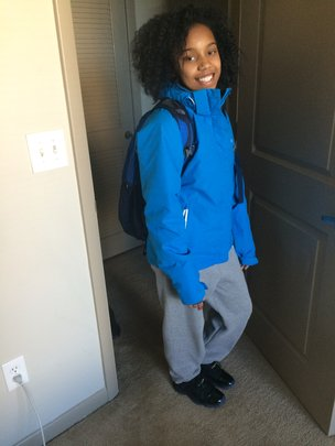 PreAnn heading to class at Spellman