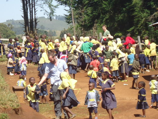 Our Volunteers and the Children playing
