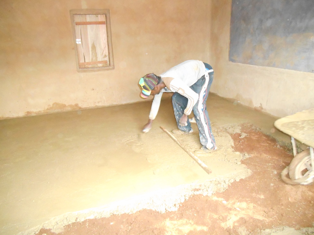 cementing of the classroom floor