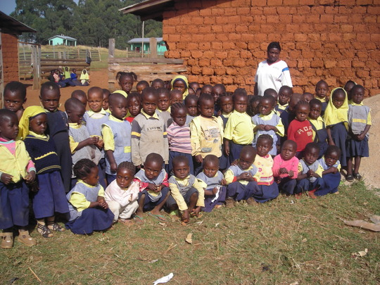 a cross section of the nursery school children.