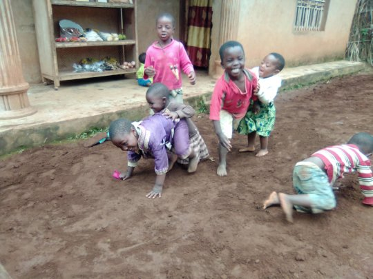 kids playing during playing time