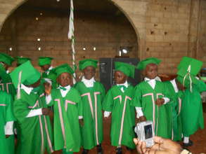 Kids during thier graduation day in thier ropes