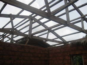 A zinc roof is needed to make the build waterproof
