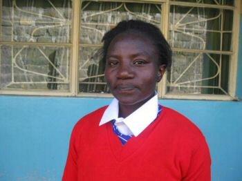 Faith in her school uniform