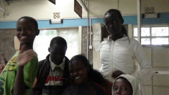 Some of the children after closing school