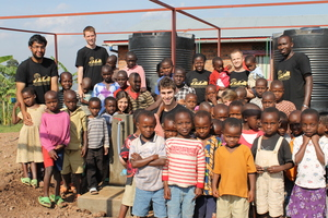 Team with orphans at L'esperance