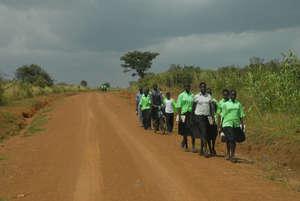 Children on the way to school