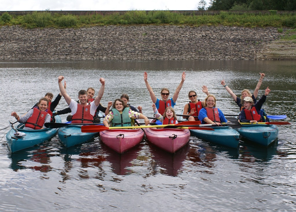 Canoeing on a multi-activity course