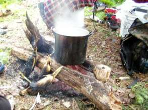 Cooking over the open fire