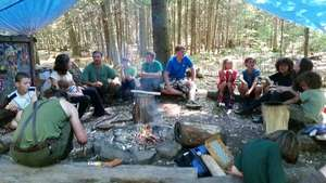 Morning Circle at Camp Fforest