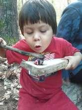Coal Burning a spoon