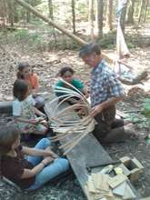 Ray Reitze teaches basket weaving