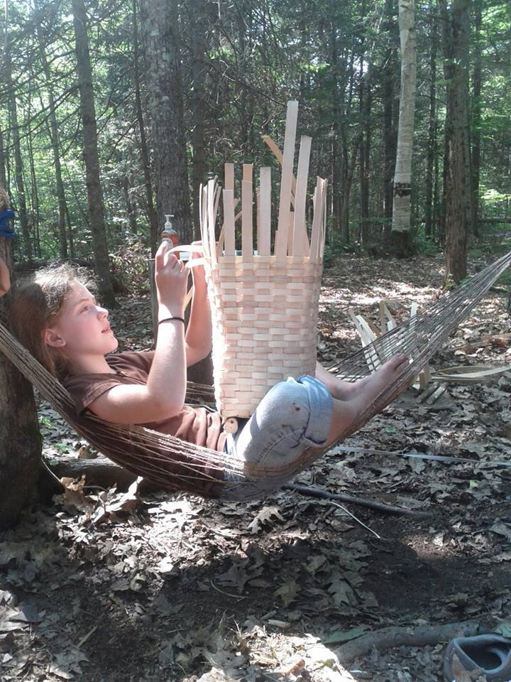 The joys of weaving at Camp Forest