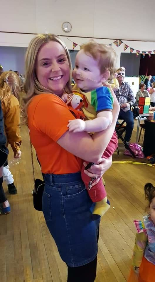 Asher with Family Support Worker, Carly