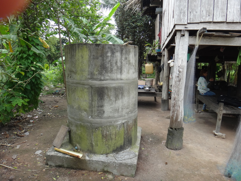 Rainwater storage provided by CRDT to Sophoeun