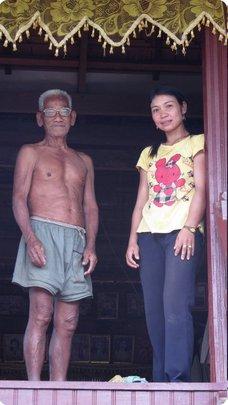 Srey Phoom & her father.