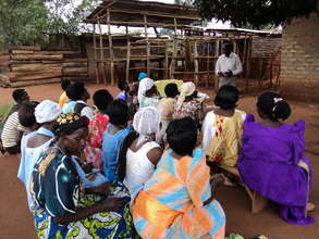 Community meeting with women affected by TB